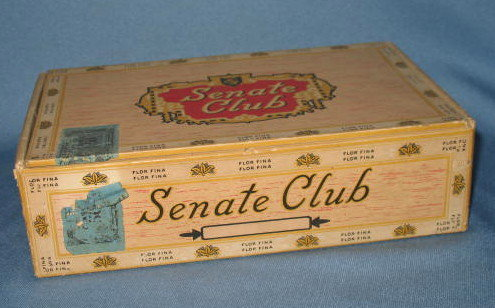 Senate Club cigar box