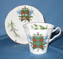 Adderley Fine Bone China (England) MacGregor Tartan cup and saucer