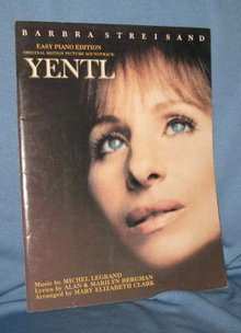 Yentl music book easy piano edition