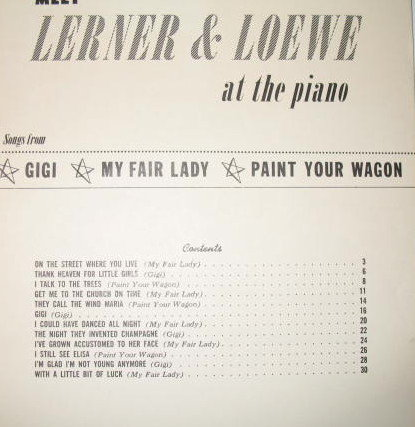 Meet Lerner and Loewe at the piano Music Book