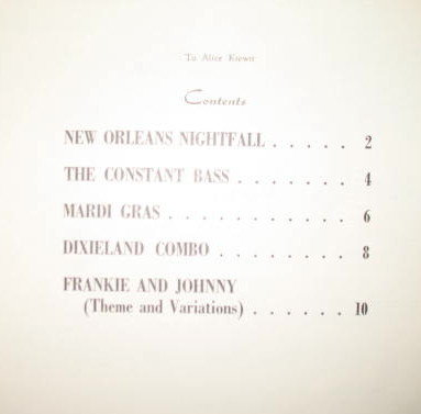 New Orleans Jazz Styles Music Book devised for the keyboard and pianistically patterned