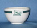 Trenton China custard bowl featuring bull and dog