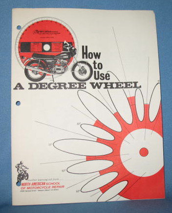 How to Use A Degree Wheel booklet from North American School of Motorcycle Repair
