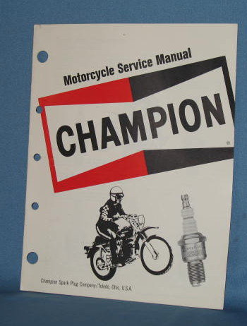 Champion Spark Plugs Motorcycle Service Manual booklet
