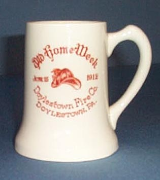 1912 Doylestown, PA Fire Company mug