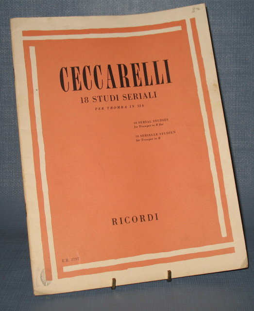 Alberto Ceccarelli 18 Serial Studies for Trumpet in B flat