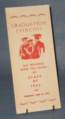 East Providence Senior High School (Rhode Island) Class of 1963 Graduation Exercises bulletin
