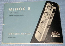 Minox B Camera owner's manual