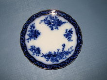 Stanley Pottery Co. England Touraine flow blue luncheon plate