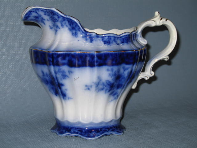 Stanley Pottery Co. England Touraine flow blue pitcher