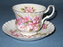 Royal Albert Wild Rose cup and saucer