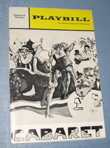 Cabaret : Imperial Theatre Playbill, May, 1968