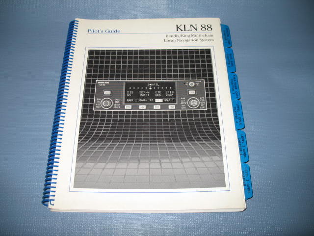 KLN 88 Pilot's Guide : Bendix/King Multi-chain Loran Navigation System