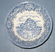 Salem China English Village Olde Staffordshire fruit/dessert bowl