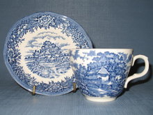 Salem China English Village Olde Staffordshire cup and saucer