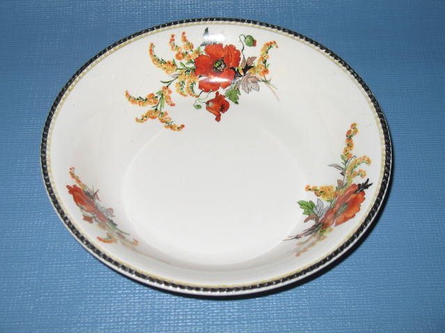 Sebring China Goldenrod Poppy coupe soup bowl