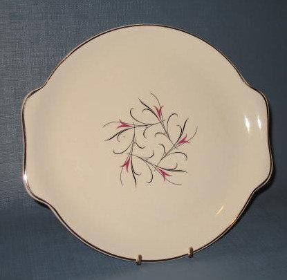 Salem China Serenade handled round platter