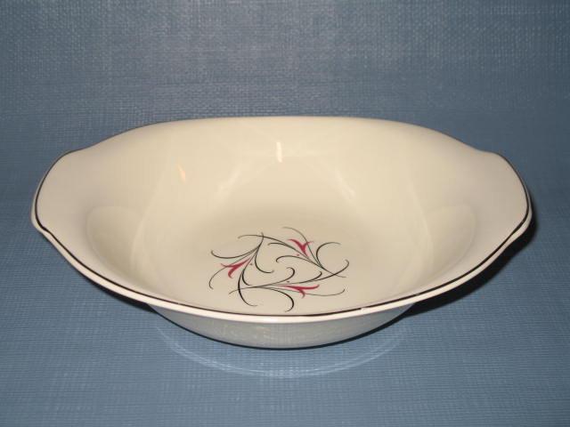 Salem China Serenade handled oval vegetable bowl