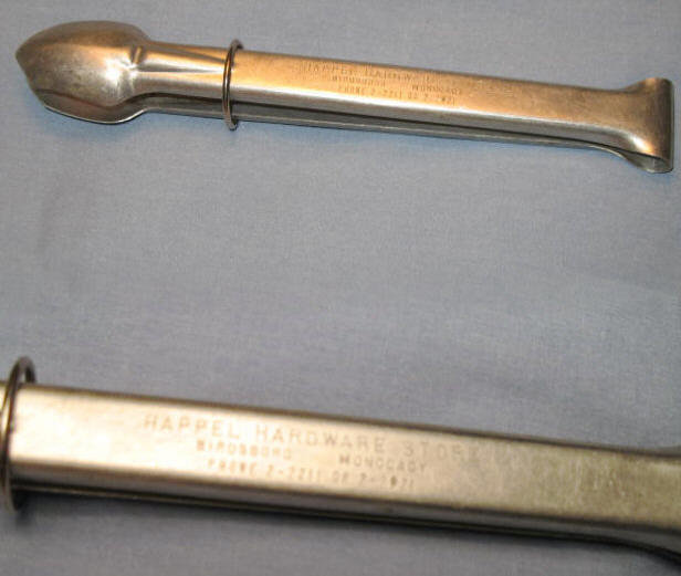 Harpel Hardware Store, Birdsboro and Monocacy PA aluminum tongs