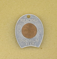 Reading Premium Beer lucky penny