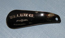 Ben A. Getz Co., Allentown PA metal shoe horn