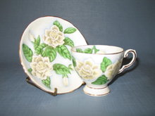 Tuscan (England) Fine English Bone China Hawaiian Flowers Gardenia cup and saucer