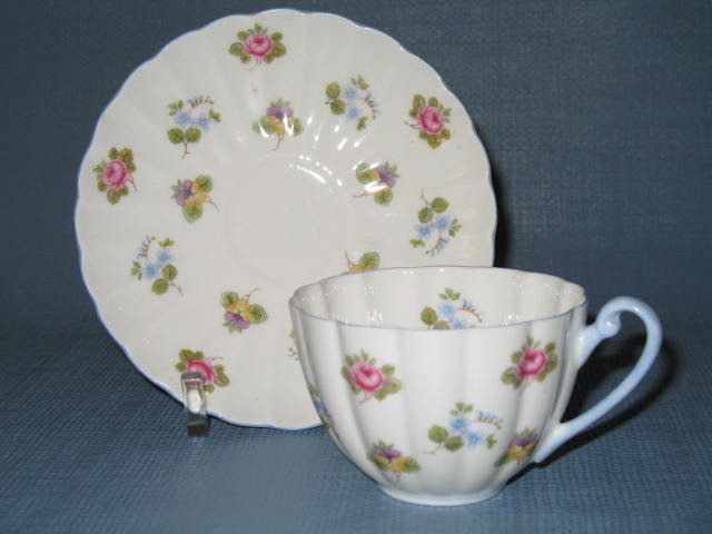 Shelley Rose, Pansy, Forget-Me-Not cup and saucer