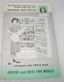 Frigidaire Food Freezer Instruction Booklet