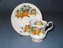 Elizabethan Fine Bone China Florida Oranges small cup and saucer