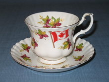 Royal Albert From Sea to Sea Canada cup and saucer