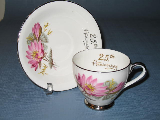 Taylor and Kent 25th Anniversary cup and saucer