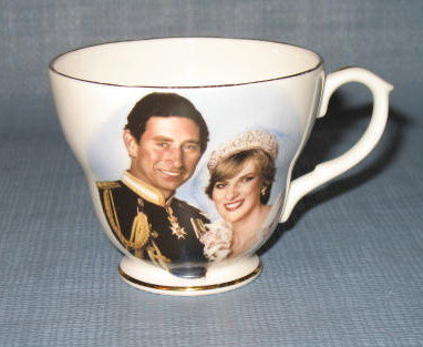 St. George China Charles and Diana marriage commemorative cup