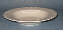 Oneida Evening Pearls rimmed soup bowl