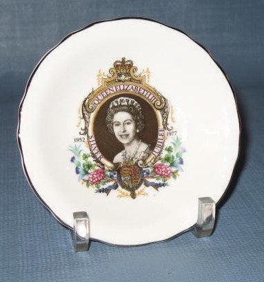 Queen Elizabeth II Silver Jubilee cup plate