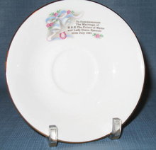 Prince Charles/Lady Diana marriage saucer