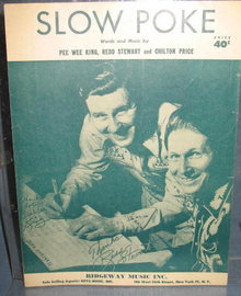 Slow Poke sheet music by Pee Wee King, Redd Stewart and Chilton Price