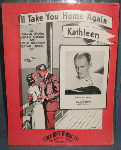 I'll Take You Home Again Kathleen  sheet music with ukelele and guitar  chords and special Hawaiian Guitar chorus