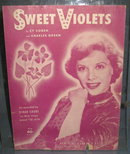 Sweet Violets sheet music as recorded by Dinah Shore