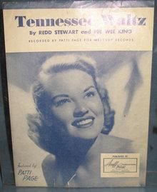 Tennessee Watz sheet music featuring Patti Page