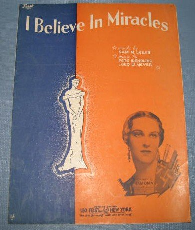 I Beleive in Miracles sheet music