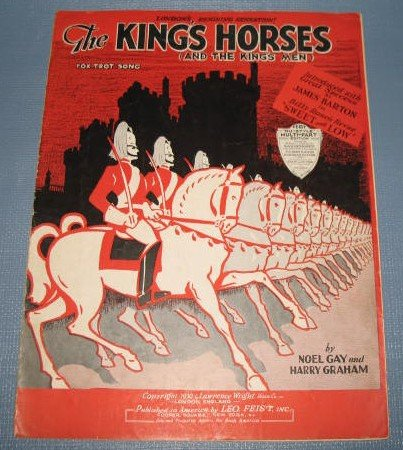 The King's Horses sheet music