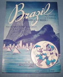 Brazil sheet music from Walt Disney's Saludos Amigos