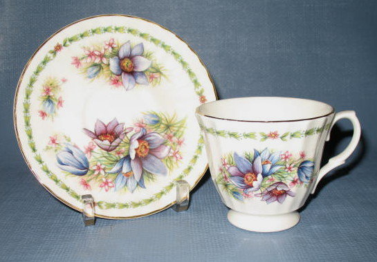 Royale Garden Bone China cup and saucer