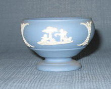 Wedgwood blue Jasperware footed bowl