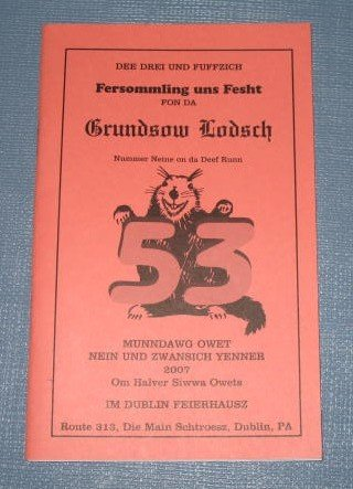 53rd Meeting of the Deep Run Grundsow Lodge booklet