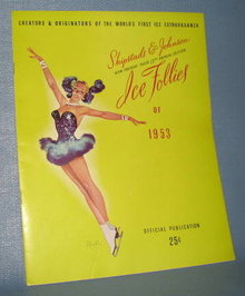 Ice Follies of 1953 souvenir booklet