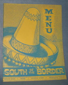 South of the Border menu