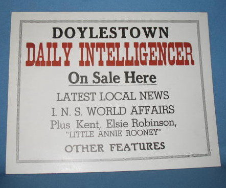 Doylestown Daily Intelligencer On Sale Here placard