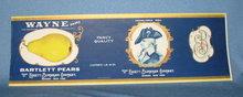 Wayne Bartlett Pears fruit crate label - Edgett-Burnham Co.