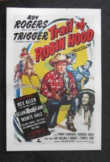 Roy Rogers in Trail of Robin Hood advertising card